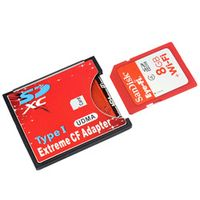 Etmakit SDXC SDHC WIFI SD Type I Compact Flash Card CF Adapter Maximum Support 2TB