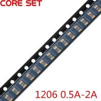 CORE SET 50PCS/Lot 1206 0.5A/2A/0.1A/0.2A/0.5A/0.75A/1.1A/2A SMT SMD Resettable Fuse