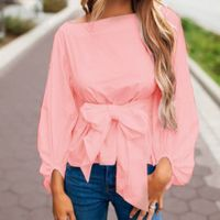 SMILE FISH Spring Summer White Blouse with Belt 2018 Woman