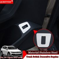 QCBXYYXH Car-styling Stainless Steel Modification Trunk Switch Sequins Decoration