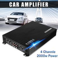 Audew 2000W 4 Channel Car Speaker Vehicle Stereo Amp Auto Audio Power Amplifier