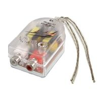 seewellor Car High to Low Impedance Converter Adapter Speaker RCA Line