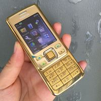 Original Nokia Mobile Phone Classic Cellphone 6300 Gold One Russian Keyboard