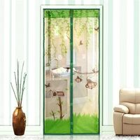 Polyester Fiber  Anti Mosquito Magnetic Curtain Automatic Closing Door Screen Monkey Style Print 4 color 2 Size 1Pcs