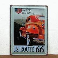 30pcs/lot shabby chic American's highway Metal sign iron