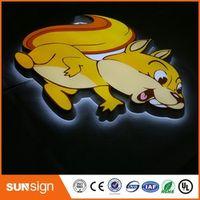 shsuosai Custom acrylic LED signage illuminated outdoor