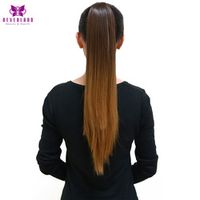 """Neverland 20"""" Two Tone Ombre Straight Claw On Ponytails Synthetic Hair Piny Tail Hair Extensions Tress of False Hair for Women"""