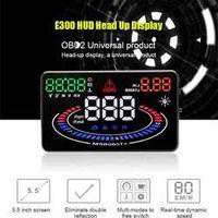 Rectangle OBDII Car HUD Head Up Display Engine Alarm Fault Code Elimination 2D Vision