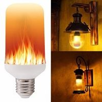 XUNATA E27 E26 2835 LED Flame Effect Fire Light Bulbs Creative Flickering Emulation