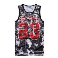 Newest Casual Gridding Breathable jersey Fashion mens/womens vests 3D printed ball game Jordan No.23 tank tops unisex vests
