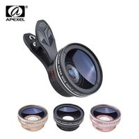 APEXEL Professional Camera Lens 0.45x super Wide Angle 12.5x Macro Lens for iPhone