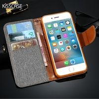 KISSCASE Luxury Flip Leather Case For iPhone 6 6s 7 Plus 5 5S SE Wallet Coque + Silicone Back Cover For iPhone 6 6S Plus 7 Plus