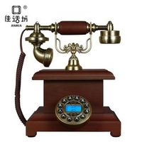 JIAHUA Antique landline European telephone creative retro phone solid wood home