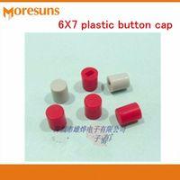 1000pcs/lot 6X7 plastic cap/ Self-locking Push cover/