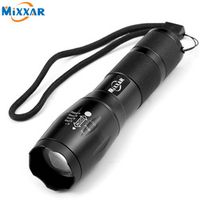 mixxar ZK59 Portable LED Flashlight Torch CREE XM-L T6 LED Light For 18650 Battery
