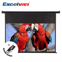 Excelvan 100 Inch 16:9 1.2 Gain Wall Ceiling Electric Motorized HD Projector Screen