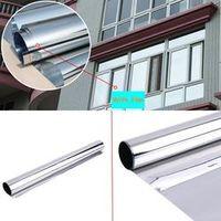 SUNICE 16x50cm 2mil 20%VLT 90%UV Silver Reflective Home Building Commercial Pravicy