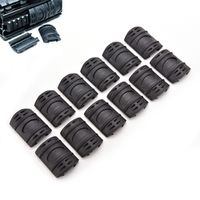 12Pcs Tactical Weaver/Picatinny Rubber Handguard Quad Rail Protector Covers