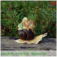 Everyday Collection Resin Little Fairy Lying On Snail Fairy Garden Ornaments Wedding Decoration Birthday Party Decoration