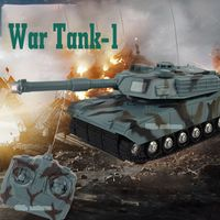 Mini RC Tank Toys With LED Light Music Remote Control Battle Fight Tanks Model Outdoors Shoot Robot RC Toys for Children Gifts
