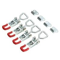 MTGATHER 4XGalvanized Spring Loaded Toggle Case Box Chest Trunk Latch Catches Hasp