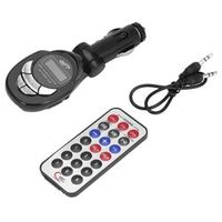 CATUO 4 in1 LCD Auto Car MP3 Player Wireless FM Transmitter Modulator with USB CD MMC