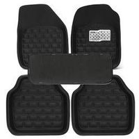 Autoleader 5PCs/Set Universal Car Floor Mats Front Rear Carpet Auto Black Skidproof