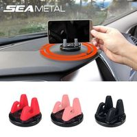 SEAMETAL Car Phone Holder Stands Rotatable Support Anti Slip Mobile 360 Degree Mount