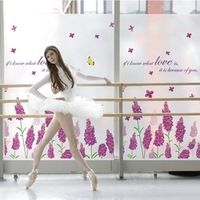 Custom electrostatic frosted opaque window film cabinet