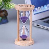 SANGEMAMA Wooden Sand Clock 3 Minutes Hourglass Sandglass