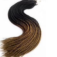 30strands/Pack Honey Brown Ombre Color Micro SenegaleseTwist Crochet Braid Hair Esprit Beauty Synthetic Braiding Hair Extensions