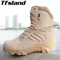 Men Military Tactical Boots Leather Outdoor Combat Army Hiking Shoes Trekking Mountain Climbing Boots Sneakers Wrestling Shoes