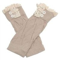 SANWOOD Girl's Kids Sweet Soft Crochet Knit Leg Warmer