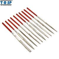 TASP 10 Pieces 140mm Diamond Mini Needle File Set Handy Tools for Ceramic Glass Gem Stone Hobbies and Crafts