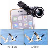 Universal Clips 12X Zoom Phone Lenses Telephoto Lentes Telescope Camera Lens