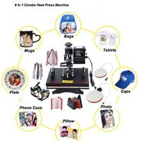 Vicsign 8 In 1 heat press sublimation transfer printing digital multifunction t