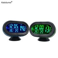 sikeo Automobile LED Lighted Digital Car Clock Thermometer Auto Dual Temperature