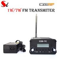 CZERF CZE-7C 7W stereo PLL FM transmitter broadcast radio station PS Ant kit