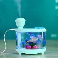 tancredy Home Car Ultrasonic Mini Fish Tank Acquario USB Air Purifier Atomization