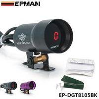 EPMAN 37mm Smoke Tach RPM Tachometer Red Digital Shift Light Style Gauge Pod Black