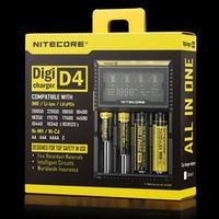 Nitecore D4 Battery Charger LCD Smart Charging for 18650 14500 16340 26650 Batteries