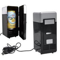 KONNWEI Car Mini Fridge USB Gadget Beverage Cans Cooler Warmer Refrigerator