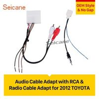 seicane Car stereo Radio Cable Video Audio Adaptor with RCA for 2012 TOYOTA