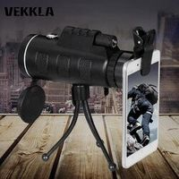 VEKKLA Day Night 40x60 HD Vision Handheld Optical Monocular Outdoor Telescope Camping