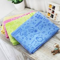 Cartoon dog pet cat Absorbent microfiber Bath towel bathrobe Quick dry Suede material dog hair dry towel for dogs