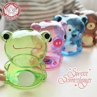 Wander about the spread of new products Cartoon transparent plastic coin piggy bank piggy bank Bear children's birthday gift