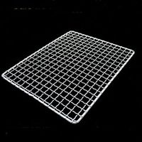 AISONG 28x28cm stainless square bbq net with foot barbecue