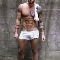 sexy men underwear diy erlook  male fashion casual fitness  shorts 100% placketing cotton white shorts