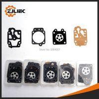 ZJLIEC 5sets Carburetor repair fit for 40-5 1E40F-5 1E44F-5 brush cutter 430 cg260