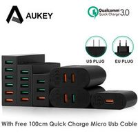 AUKEY Quick Charge 3.0 Mobile Phone USB Desktop Wall Charger Samsung Galaxy S8 Xiaomi